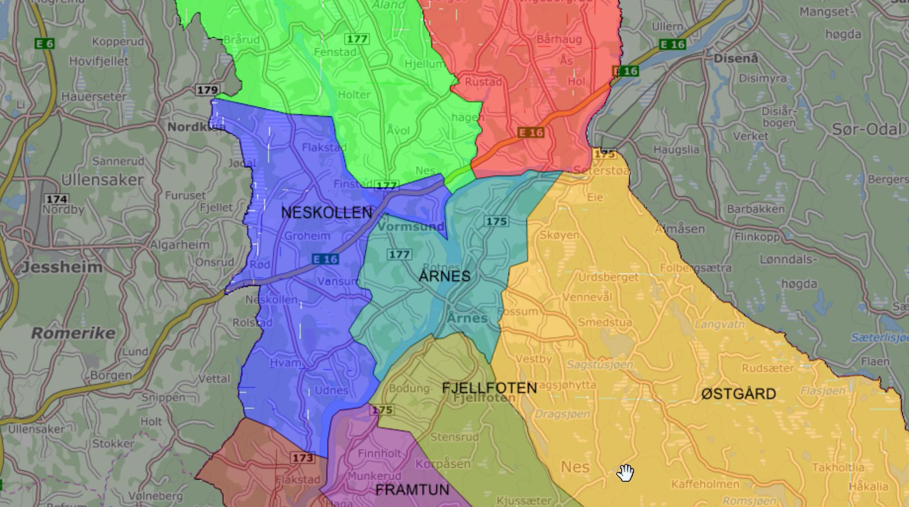 nes kommune kart Kartportal nes kommune kart